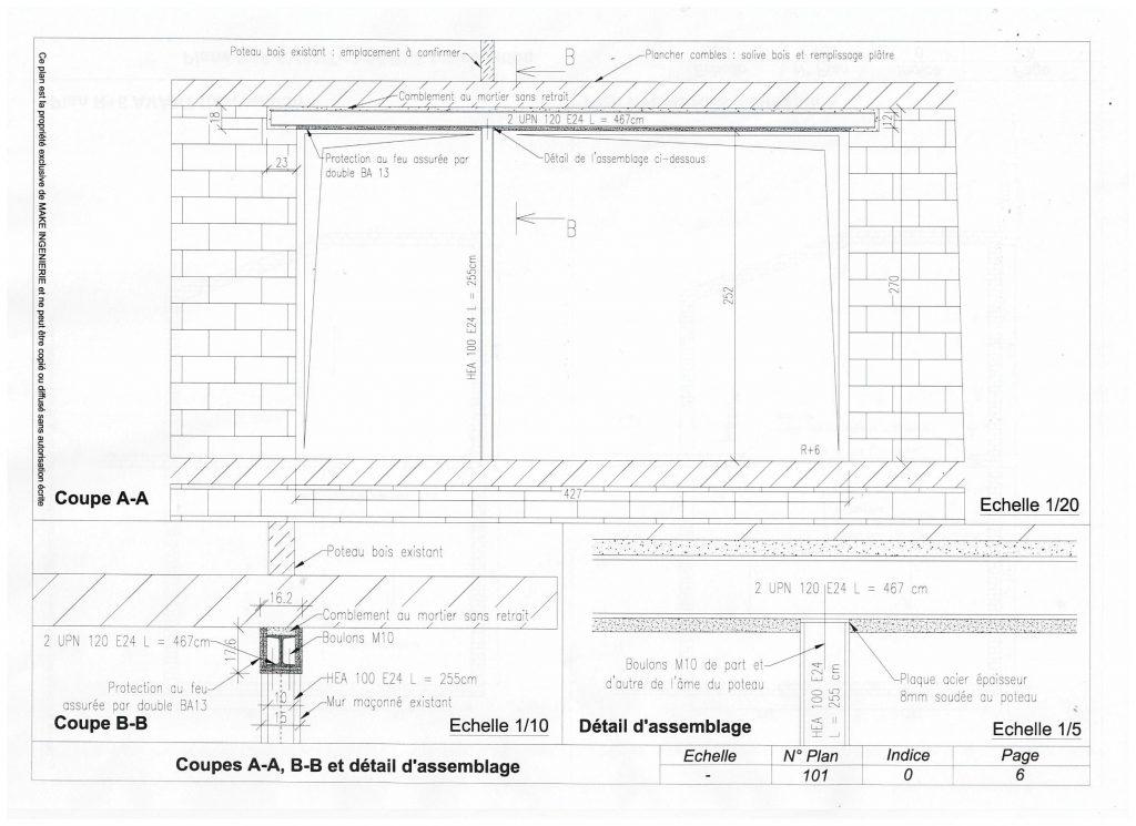 Ouvrir un mur porteur afin de réunir deux appartements - Murs porteurs