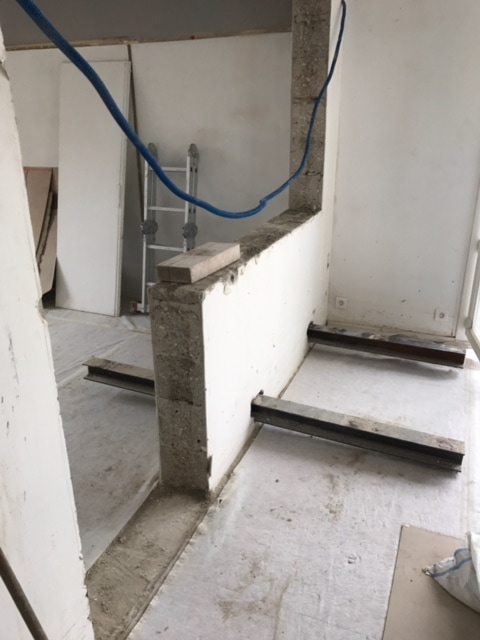 Ouverture dans un mur porteur pour l'installation d'une verrière - Murs porteurs
