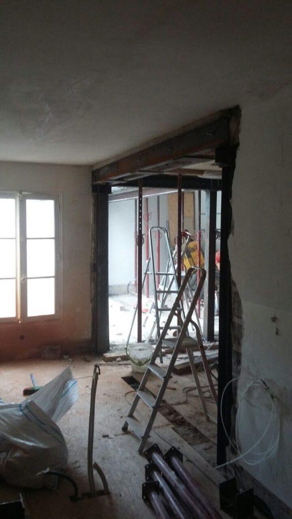 Restructuration d'un appartement afin de créer un espace de vie unique - Murs porteurs