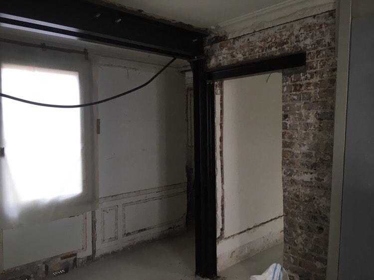 Aménagement d'un appartement parisien dans un immeuble datant du début du 20ème siècle - Murs porteurs
