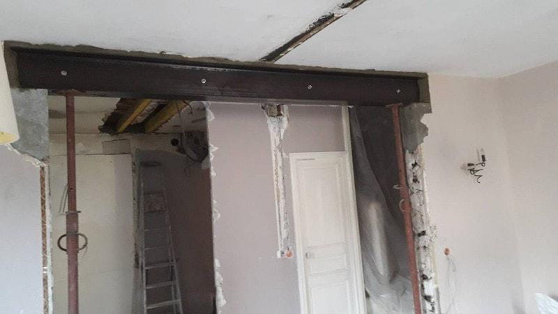 Ouverture mur porteur maison a Neuilly Plaisance