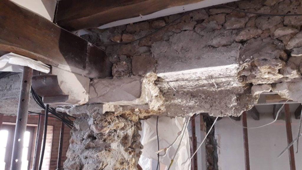 Pose d'un IPN mur porteur - Murs porteurs
