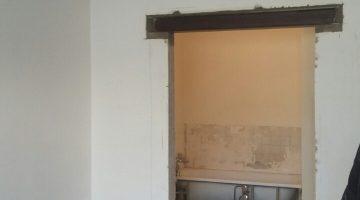 Réalisation d'une ouverture dans un mur porteur