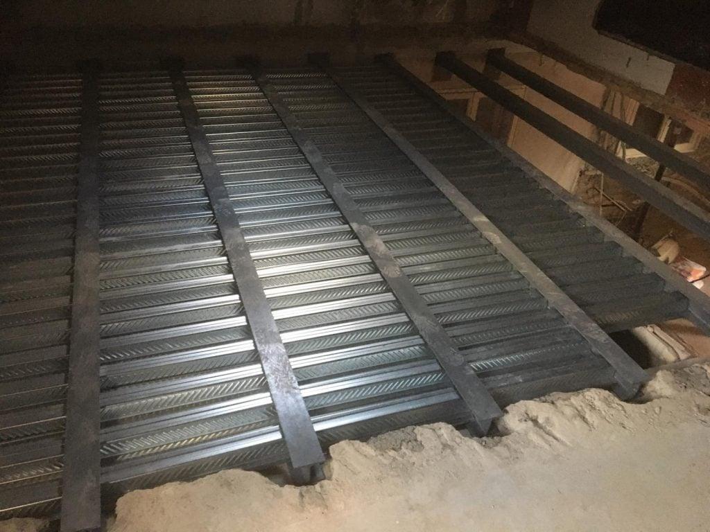 Création d'un plancher collaborant en bac-acier à Mouans-Sartoux. - Plancher collaborant