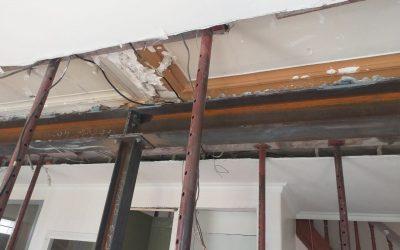 Démolition d'un mur porteur à Antibes et renforcement par structure métallique.