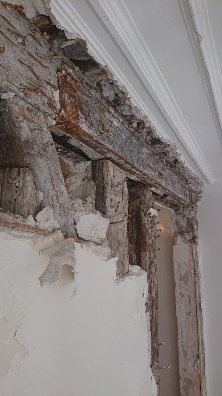 Murs porteurs - Démolition de mur de refend dans une maison individuelle à Toulon. 9